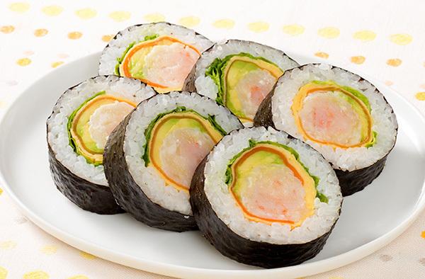 エビシューマイの太巻き寿司